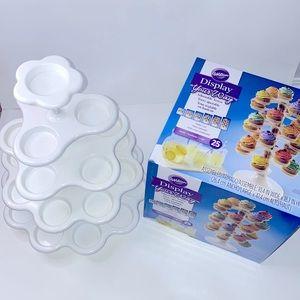 2 pack Wilton 25-27 Cupcake Display Holder Bundle